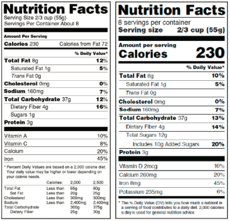 fda-gov-food-label-original-vs-new-format