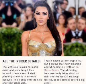 Kim Kardashian Teeth Whitening Doctor