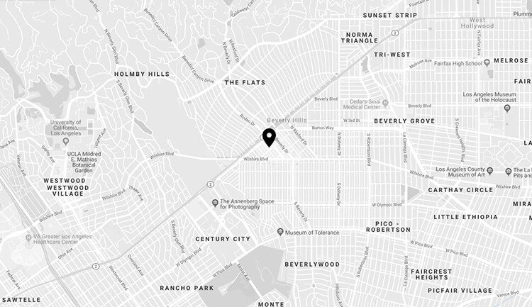 Map of Beverly Hills, Kevin B. Sands DDS office
